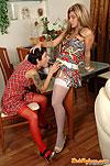 Sheila&Subrina leggy stockings lesbians