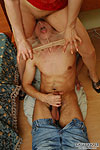 Nasty teaser fondling guy through her hose before steamy oral in sixty-nine