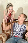 Pantyhose crazy couple getting to hot oral games being clad in sexy hosiery