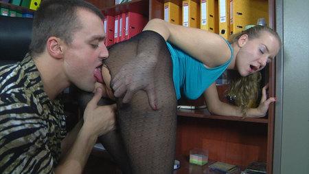 Barbara&Nicholas cool anal pantyhose action