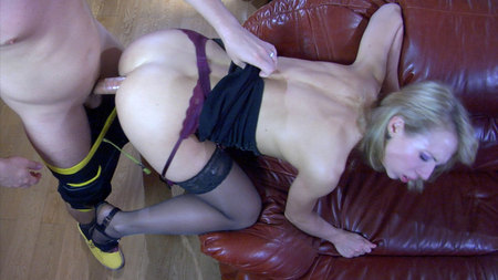 A sexy little black dress with gartered lacy nylons and no panties underneath can turn Felicia C into a swell lay. After a passionate kiss, Rolf goes right after her juicy bare booty, though her puffy pussy looks also tempting from this angle. The guy rims, fingers and rams that tempting juicy ass on the huge soft brown couch trying every anal position possible and making this blonde scream with every push..View Gallery :: Brought to you by AnalSaga.com @ FerroNetworkCheck Official Reviews to learn more about FerroNetwork sites