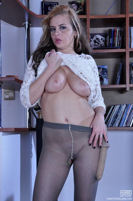 Sexy Smooth Pantyhose Teasing You Wearing 85
