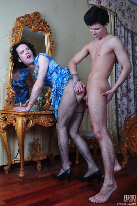 Arnold A&Herman A nasty sissy gay sex