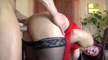 Bendover mom and son