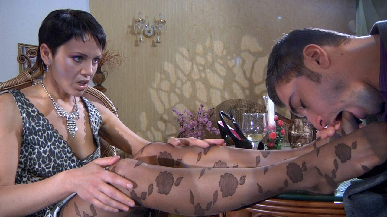 Viola and Marcus nylon feet action