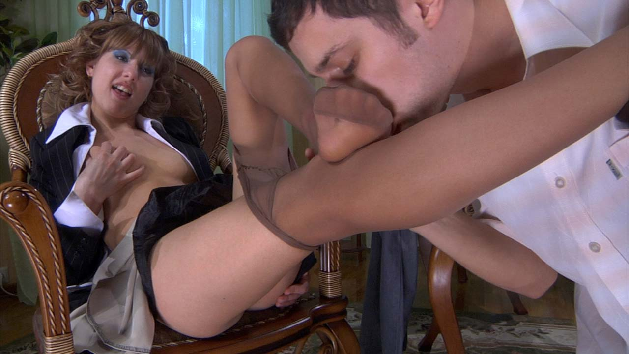 Madeleine and Marcus nylon footfuck movie