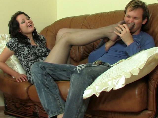 Melanie and Rolf sexy nylon feet movie