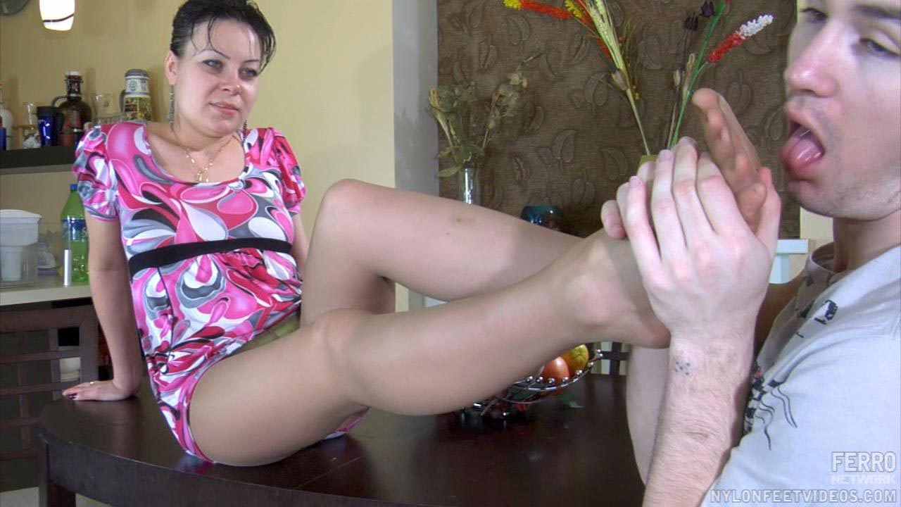 Sibylla and Vitas hot nylon footsex