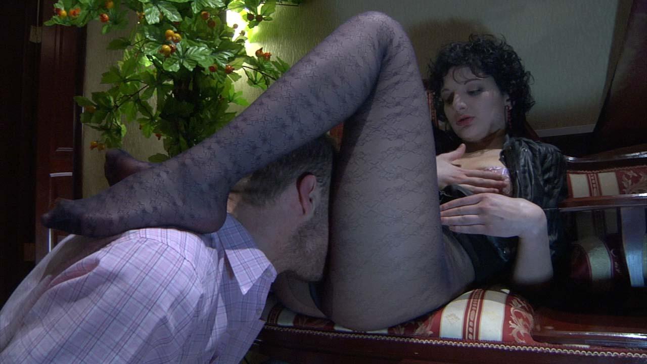 Inessa and Herbert nasty nylon feet movie