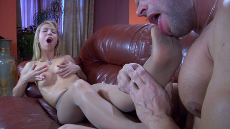 Felicia C&Claud nasty nylon feet movie