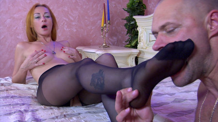 Mercy A&Claud great nylon feet movie