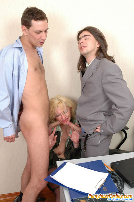 Sergio& Alice&Danil pantyhose loving trio