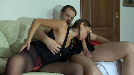 Black Pantyhose Heated Brunette 57