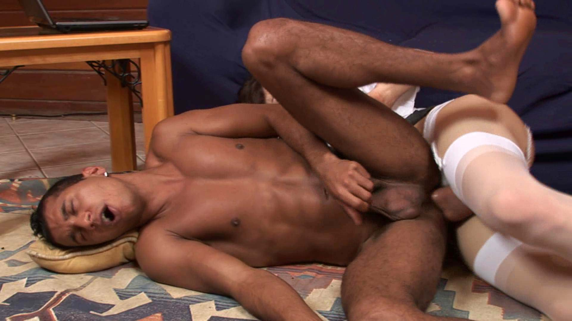 Adriana and Junior tranny fucking dude on